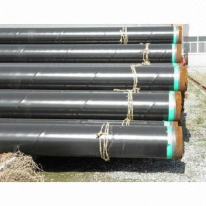 3PE Saw Steel Pipes, Anti-corrosion, According to DIN30670 and GB/T23257-2009, 1.8 to 2.5mm Coated